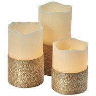 EMOS LED Weihnachtsdekoration - Kerze mit Schnur, 9 × AAA, ovl., Zeit. - Weihnachtsbeleuchtung