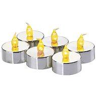 EMOS LED Weihnachtsschmuck - Kerze, Tee, Silber, 6 × CR2032 - Weihnachtsbeleuchtung