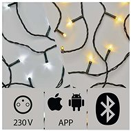 Anwendungsgesteuerte LED-Weihnachtskette, 20 m, Außenbereich, kalt / warmweiß - Weihnachtsbeleuchtung