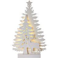 LED Weihnachtsbaum, 23cm, 2x AA, innen, warmweiß, Timer