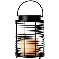 LED Dekoration - Laterne Längsgitter - 3 x AAA - blinkend -warmweiß - Weihnachtslaterne
