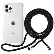 Epico Nake String Case iPhone 11 Pro Max - weiß transparent / schwarz - Handyhülle