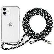 Epico Nake String Case iPhone 12 mini weiß transparent / schwarz - weiß - Handyhülle