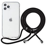 Epico Nake String Case iPhone 12 Pro Max - weiß transparent / schwarz - Handyhülle