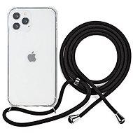 Epico Nake String Case iPhone 12/12 Pro weiß transparent / schwarz - Handyhülle