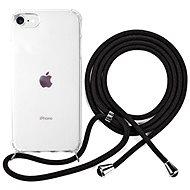 Epico Nake String Case iPhone 7/8/SE - weiß transparent / schwarz - Handyhülle