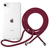 Epico Nake String Case iPhone 7/8/SE - weiß transparent / rot - Handyhülle