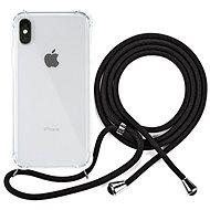 Epico Nake String Case iPhone X/XS - weiß transparent / schwarz - Handyhülle