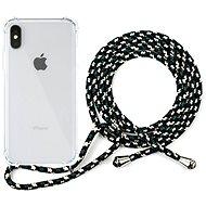 Epico Nake String Case iPhone X/XS - weiß transparent / schwarz - weiß - Handyhülle