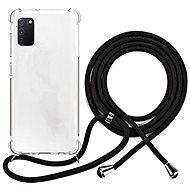 Epico Nake String Case Samsung Galaxy A41 - weiß transparent / schwarz - Handyhülle