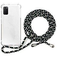 Epico Nake String Case Samsung Galaxy A41 - weiß transparent / schwarz - weiß - Handyhülle