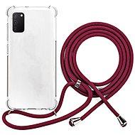 Epico Nake String Case Samsung Galaxy A41 - weiß transparent / rot - Handyhülle