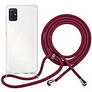 Epico Nake String Case Samsung Galaxy A51 - weiß transparent / rot - Handyhülle