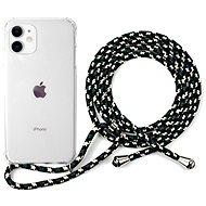 Epico Nake String Case iPhone 11 - weiß transparent / schwarz - weiß - Handyhülle