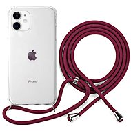 Epico Nake String Case iPhone 11 - weiß transparent / rot - Handyhülle