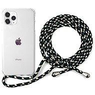 Epico Nake String Case iPhone 11 Pro - weiß transparent / schwarz - weiß - Handyhülle