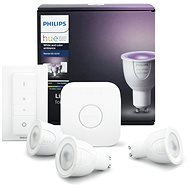 Philips Hue White and Color ambiance 6.5W GU10 Starter-Kit - LED-Lampe