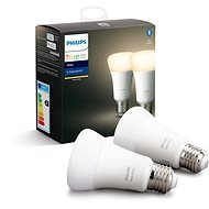 Philips Hue White 9.5W E27 set 2ks - LED-Lampe
