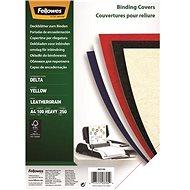 FELLOWES Delta A4 Rückseite, gelb - 100 Stück Packung - Bindecover