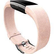 Fitbit Charge 2 Lederarmband Zartrosa Groß - Armband