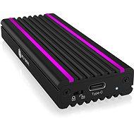 ICY BOX IB-1824ML-C31 USB-Typ-C-Gehäuse für M.2 NVMe SSD - RGB - Externe Box