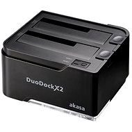 Externe Dockingstation AKASA DuoDock X2 Schwarz - Externe Docking-Station