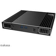 AKASA Plato PX Aluminiumgehäuse für 8. Gen. Intel® NUC (Provo Canyon) / A-NUC51-M1B - PC-Gehäuse