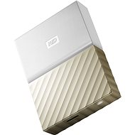 "WD 2.5"" My Passport Ultra Metal 2TB Weiß/Gold Slim - Externe Festplatte"