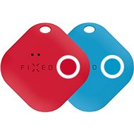 FIXED Smile Bluetooth-Tracker mit Bewegungssensor DOPPELPACK - Rot + Blau - Bluetooth-Chip-Lokalisierung