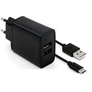 Netzladegerät FESTE Smart Rapid Charge 15W mit 2xUSB Ausgang und USB / USB-C Kabel 1m schwarz - Nabíječka do sítě