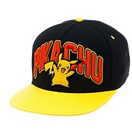 Pokémon Pikachu Schwarz Snapback mit gelbem Band - Cap
