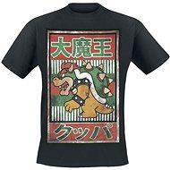 Tričko: Nintendo černé s motivem Bowser Kanji -XL - T-Shirt