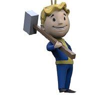 Fallout Vault Boy 3D - Melee - Schlüsselanhänger - Schlüsselring