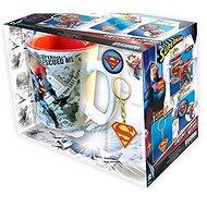 Superman Set - Becher, Anhänger, 2x Abzeichen - Geschenkset
