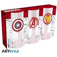 Marvel Heroes - 3x Glas - Gläser für kalte Getränke