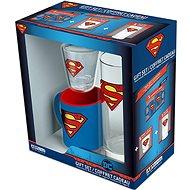 Superman Set - Becher, Glas, Schnapsglas - Geschenkset