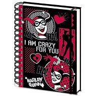 Harley Quinn - Ich bin verrückt nach dir - Notizbuch mit Spiralbindung - Notizbuch