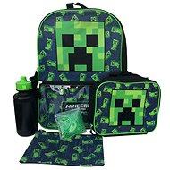 Minecraft - Creeper - Rucksack, Trinkflasche, Snackbox mit Kühlpaket und Federmäppchen - Rucksack
