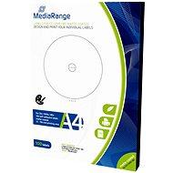 MediaRange CD/DVD/Blu-ray Etiketten 15 mm - 118 mm weiß - Sticker