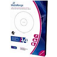Mediarange CD / DVD / Blu-ray-Etiketten 41 mm - 118 mm weiß - Sticker