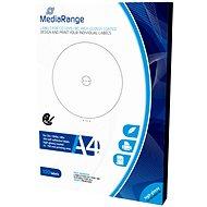 Mediarange CD / DVD / Blu-ray-Etiketten 15 mm - 118 mm Weiß Hochglanz - Sticker