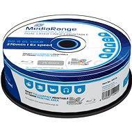 MediaRange BD-R (HTL) 50GB Dual Layer Inkjet Printable, 25ks cakebox - Media