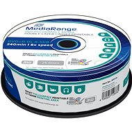 MediaRange DVD+R Dual Layer 8,5 GB Injekt bedruckbar, 25 Stk - Media
