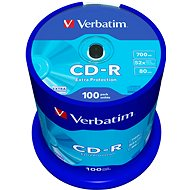 Verbatim CD-R 52x DataLife Protection, 100 Pack Cakebox - Media