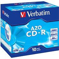 Verbatim CD-R DataLifePLUS Crystal AZO 52x, 10 Stück Packung - Media