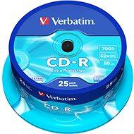 Verbatim CD-R DataLife Extra Protection - Schreibgeschwindigkeit 52x, Spindel mit 25 Stück - Media