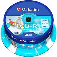 Verbatim CD-R DataLife Protection 52x Printable 25 Stück Spindel - Media