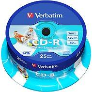 Verbatim CD-R 52x Datalife Schutz, druckbare 25pcs cakebox - Media