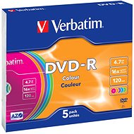 Verbatim DVD-R 16x, Colour Disc SLIM 5 Stück in Box - Media