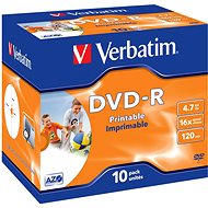 DVD-R Verbatim Printable 4,7 GB 16x speed, 10 Stm im Jewel Cases - Media